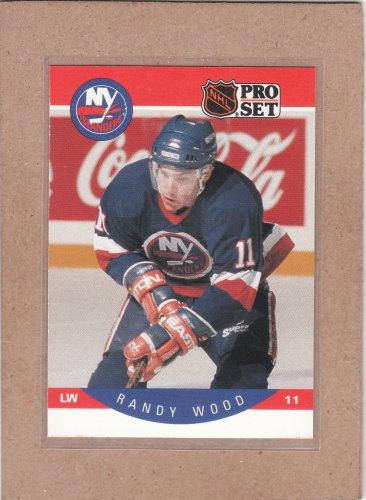 1990 Pro Set Hockey Randy Wood Islands #194