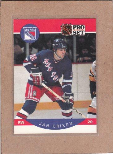 1990 Pro Set Hockey Jan Erixon Rangers #195