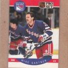 1990 Pro Set Hockey Mike Gartner Rangers #196