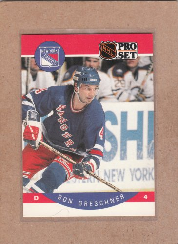 1990 Pro Set Hockey Ron Greschner Rangers #196