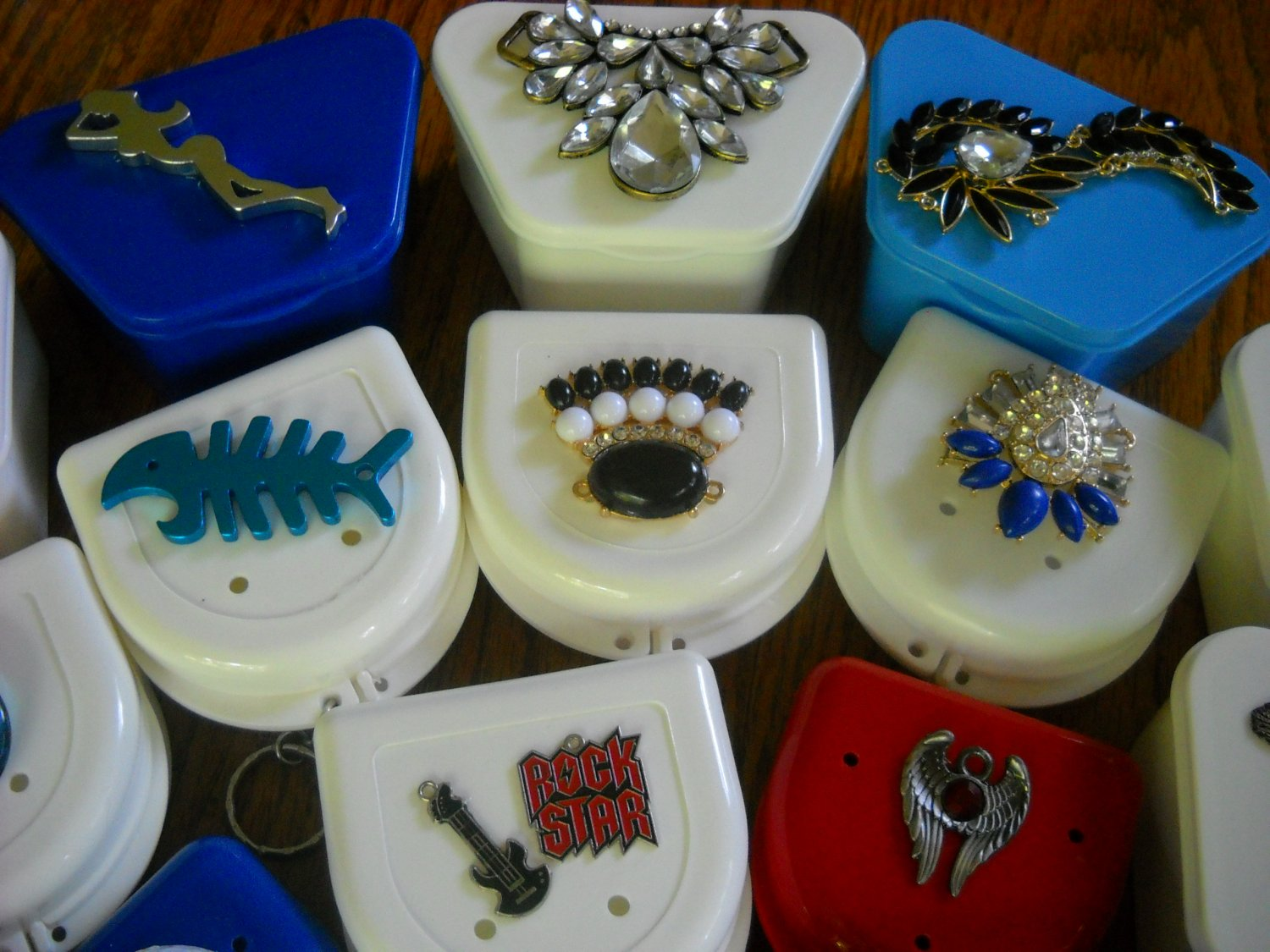 Dental case retainer brace partial Bling cases Photos
