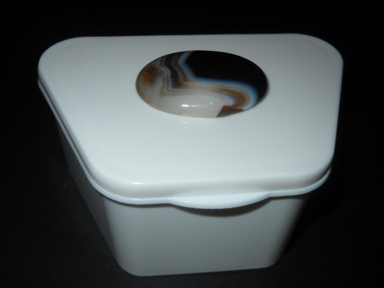 Elegant Agate Stone top Gem Denture case box container