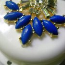 Art deco Denture Case Blue Gem Jewelry Woman Partial Bridge Retainer white