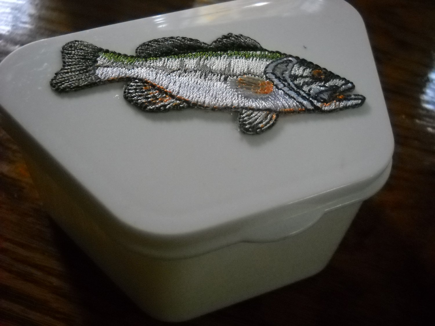 Full Denture case Fishing Sport decorative dental storage box