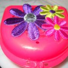 ladies woman dental case retainer brace partial flower case