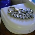 Partial Bridge Denture Brace Case White gem Bling Glam Brass trim