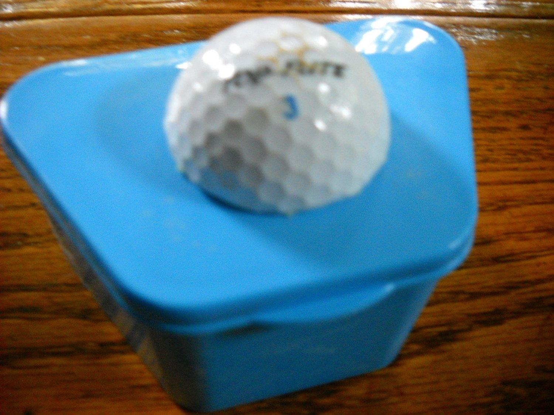 Full Denture Case Golf mans dental storage case Blue w / golf ball woman