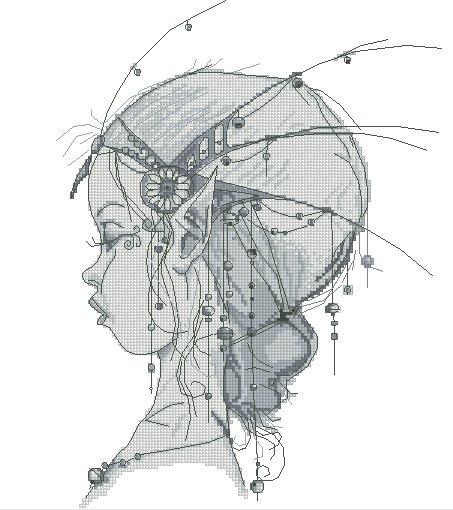 Monge Jean-Baptiste Cross Stitch Chart Fairy