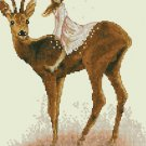 Monge Jean-Baptiste Cross Stitch Chart Fairy on the Deer