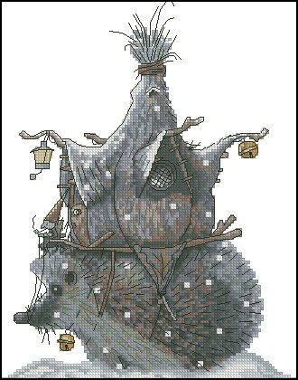 Monge Jean-Baptiste Cross Stitch Chart Hedgehog House