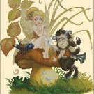 Pascal Moguerou Art Cross Stitch Chart Fairy and Satyr