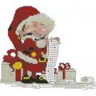 Monge Jean-Baptiste Cross Stitch Chart Santa
