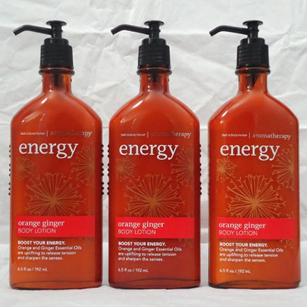 Bath & Body Works Aromatherapy Body Lotion Energy - Orange Ginger  3 bottles SALE!