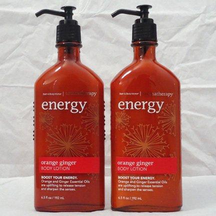 Bath & Body Works Aromatherapy Body Lotion Energy - Orange Ginger  2 bottles SALE!