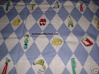 NICK & NORA Duck Diamond Life Fabric Shower Curtain NEW