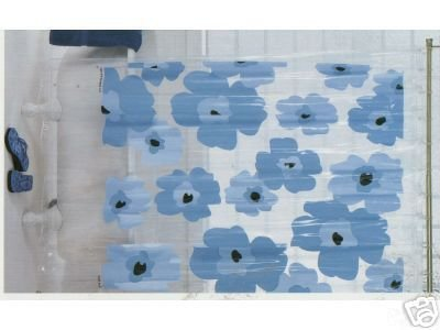 New GRAPHIC FLOWER Floral Blue Flowers Shower Curtain