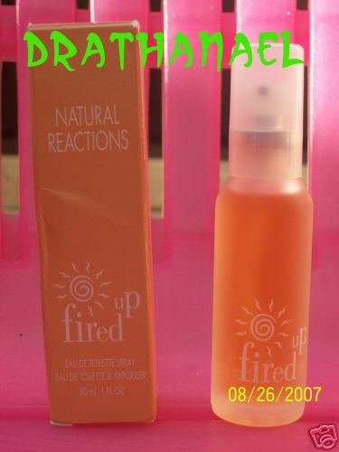 New AVON Fired Up NATURAL REACTIONS Toilette Spray 1999