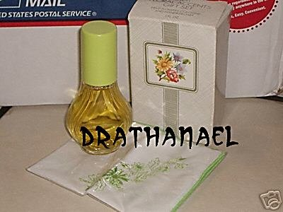 New AVON FIELD FLOWERS Cologne Spray Handkerchief Set 1982