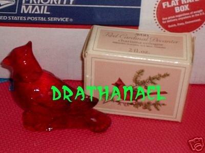 AVON CHARISMA Cologne Fragrance Red Cardinal Bird 1979