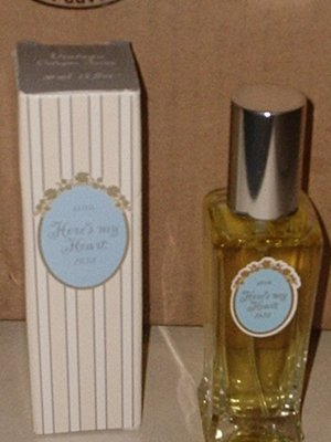 New AVON HERE&#039;s MY HEART Cologne Spray 1996
