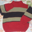 GYMBOREE SWEATER Stripes Sz 4 Red Baron USED