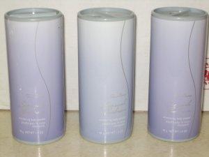 3 AVON FAR AWAY SENSUAL EMBRACE Fragrance TALC Powder