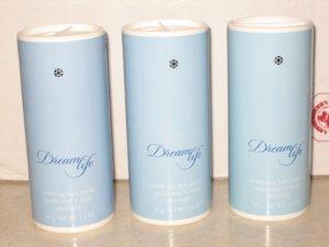 3 AVON DREAMLIFE Fragrance Shimmering Body POWDER Talc 2002