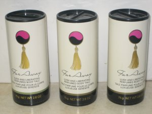 3 AVON FAR AWAY Lush & Liberating Body TALC Powder 1999