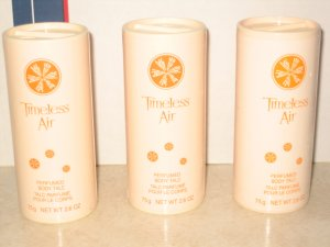 3 New AVON TIMELESS AIR Fragrance Perfume Body TALC 2000