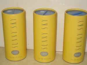 3 New AVON SUNNY SKY Fragrance Perfume Body TALC 1997