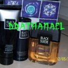 New AVON BLACK SUEDE Set Cologne Spray Talc After Shave 2001