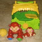 4 USED Fisher Price AMAZING ANIMALS Monkey Tote Banana