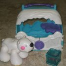 USED Fisher Price AMAZING ANIMALS Polar Bear Tote Fish