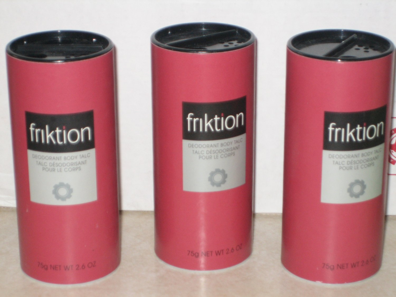 3 New AVON FRIKTION Fragrance Deodorant TALC Men 1999