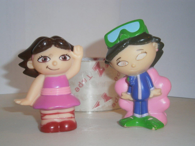 2 USED LITTLE EINSTEINS Disney Figures Figurines JUNE Toy Scuba Diver