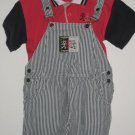 USED GYMBOREE Spring Waves SHIRT Shortalls Medium 3T 4T Set