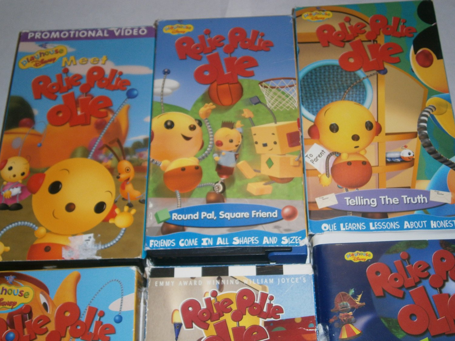 6 Used Rolie Polie Olie Vhs Tapes Animated Videos Playhouse Disney