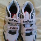 New HEALTHEX SHOES Sneakers Boys White Blue Balls Sports Size 9 Velcro