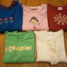 5 USED GYMBOREE SHIRT Tops Size 3 Long Sleeve Lot Daisy Flower Girl Snowflake