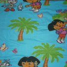 Dora the Explorer Full Flat Jersey Sheet Sheets Butterfly Boots Monkey USED