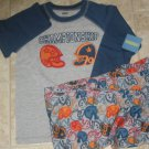 New GYMBOREE PAJAMAS PJs Gymmies Sz 8 HELMET Football