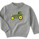 New GYMBOREE Tractor Company Knit SWEATER Sz 8 gray