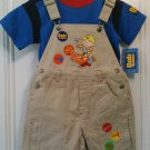 New BOB THE BUILDER Shirt Tops Shortalls Shortall Construction Tools Sz 4T