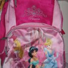 New DISNEY PRINCESS Princesses Backpack Bag Canvas Pink
