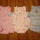 3 New Carter's Child of Mine Romper Sundress Sunsuit 24M 24 M Lot Dress Butterfly Flower