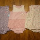 3 New Carter's Child of Mine Romper Sundress 24M 24 M Lot Dress Flower Pink Dot Purple