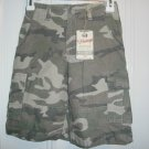 New FADED GLORY VINTAGE SHORTS CAMO Camouflage Cargo Boys Size 6