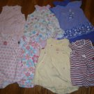 7 Used Carter's Okie Dokie Romper Sundress Sunsuit Girl 24M 24 M Cherry Flower Dress Lot