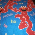 USED Pre-owned TWIN Single COMFORTER SESAME STREET ELMO Children Blue Laughing