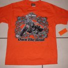 New HARLEY DAVIDSON SHIRT Size 16 18 Tops Bike Motorcycle Orange